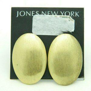 Jones New York Textured Gold Tone Large Oval Post